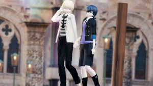 MMD: Modern Ciel and Alois [DL] by LITTLE-BLUEBELL