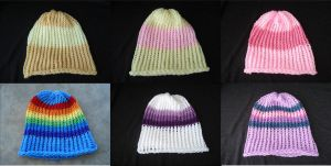 My Little Pony FiM Mane Six Beanies by RebelATS