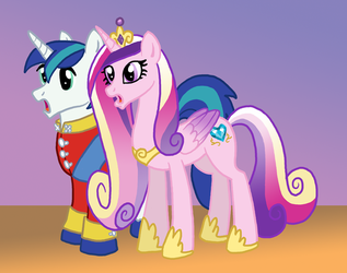 Foalpapers Commish Teaser -- Armor and Cadence by the-gneech