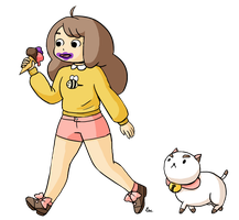 Bee and Puppycat by Khaerii