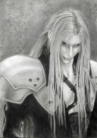 Sephiroth from Advent Children by AnnaSulikowska