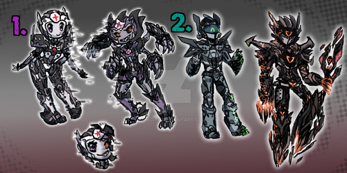 TF adoptable 4  : glitchbot and viruscon  clloosse by No-pe