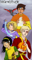 Homestuck/Avatar Crossover by yourcommonmuggle
