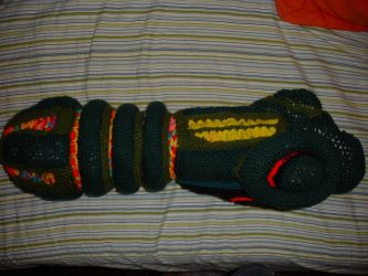 Arm Cannon: Finished side view by brotherpanda