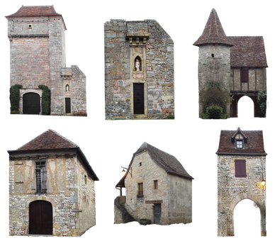 PNG medieval houses - 036 by HermitCrabStock