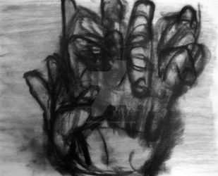 Charcoal Hand by kevturner007