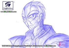 Random Sketch Original Sketch of a Masked Rider by GraphicAnime