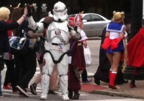 Storm Trooper Stopping Traffic by VeronicaPrower
