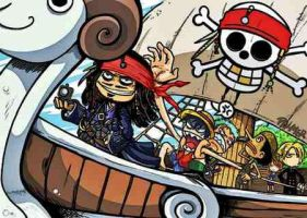 Jack Sparrow Is On The One Piece Ship by Kanta1999