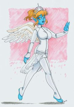 Angel from Space by blightedangel