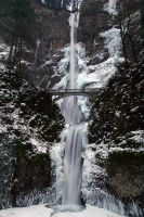 Multnomah Falls, Vertical Winter Study by greglief