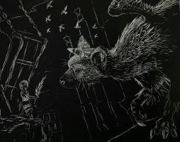 The Last Gaurdian etching  by Wingfisher
