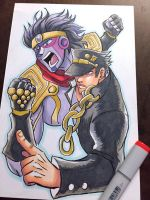 Jotaro Kujo Commission by raesquared