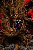 Groot N Rocket (ink+colored) by BrianSoriano