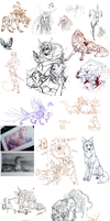 Sketchdump by Feathered-Manx