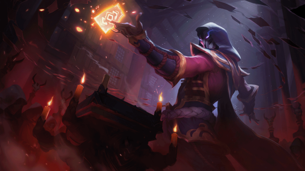 Blood Moon Twisted Fate Splash Animation by Pinipy