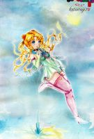 Sailor Moon watercolor by ovod