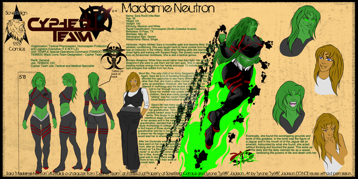 Madame Neutron Character Sheet by SoveReignComics