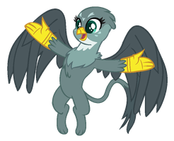 Mlp Base: Overly-Excited Griffon by ZoZoRaRaRa
