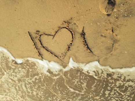 I Love You Carved In The Sand by PeachiiPeach