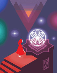Monument Valley 2 MS PAINT Commission by CaptainRedblood