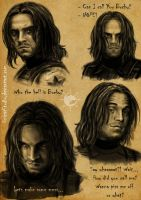 Bucky mimicry sketches by UnicatStudio