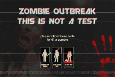 Zombie Outbreak - TV Alert by tpldesign
