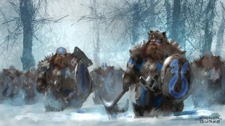 Dwarf Army by conorburkeart