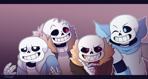 draw the squad au sans by Stereotyped-Orange