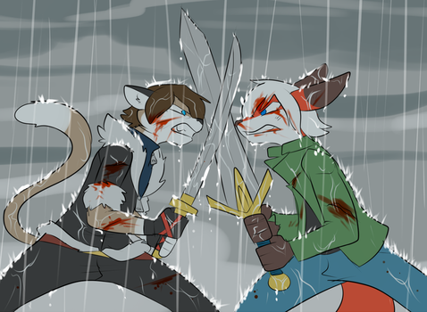 Battle of Brothers by yuri-the-cat