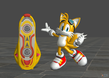Sonic Riders (Tails and Yellow Tail) by Spinosaurusking875