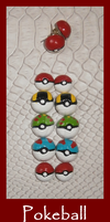 FOR SALE Pokeball earrings by Ishtar-Creations