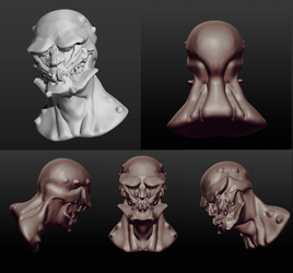 Scultrips Practice Head Monster by cerogeezer