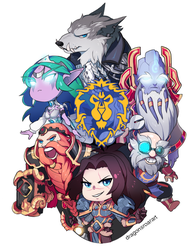 WORLD OF WARCRAFT: FOR THE CHIBI ALLIANCE! by GRAVEWEAVER