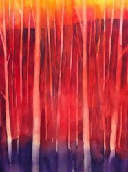 Trees - red share by andreuccettiart