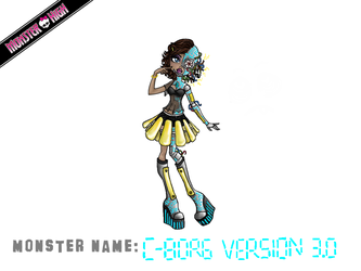 Monster High Contest: C-Borg Version 3.0 (Cece) by MetallicDynamite