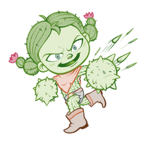 February T4 - The Cactus Girl by GTK666
