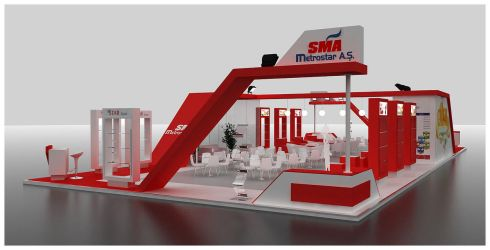 SMA Exhibition Stand Design 3D by GriofisMimarlik