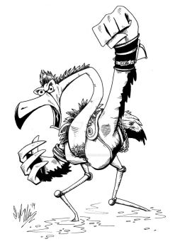 Flamingo from Mad Max by OuthouseCartoons