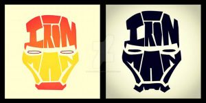 Ironman Typography by CreativeCamArt