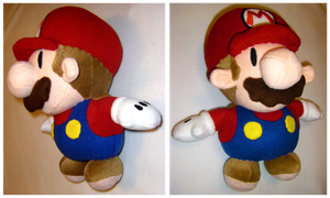 Paper Mario Plush by S2Plushies