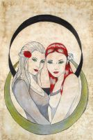 +Snow-White and Rose-Red+ by Mahwaew
