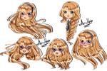 Multiple Expression Chibi  for ThePlushieLady 1/2 by AimiMay