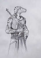 ''Daily'' sketch - ....another nasty lizard by 0laffson