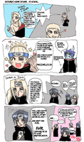 Deidara is a DOUCHEBAG by Master-chiefette