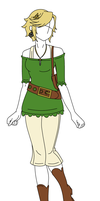 Fashion Design: Link Inspired Outfit by MaliceInTheAbyss