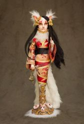 Kitsune Art Doll by cliodnafae27