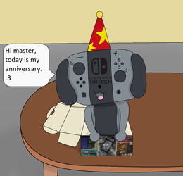 Switch dog's anniversary by pikachuandpichu106