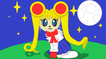 Sailor Moon kitsune by rockythebunny13