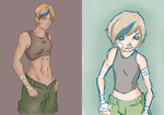 OC Nine back then and now by JVA-Doodles